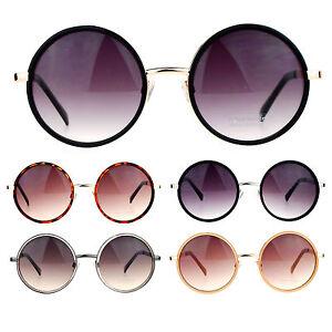 b262bf66428e SA106 Double Frame Large Round Circle Lens Retro Fashion Sunglasses ...