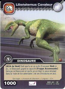 Carte card game dinosaur king dkds 42 100 liliensternus cavaleur 1000 vf ebay - Carte dinosaure king ...