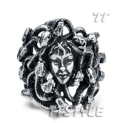 High Quality TT 316L Stainless Steel Medusa Punk Ring (RZ69)