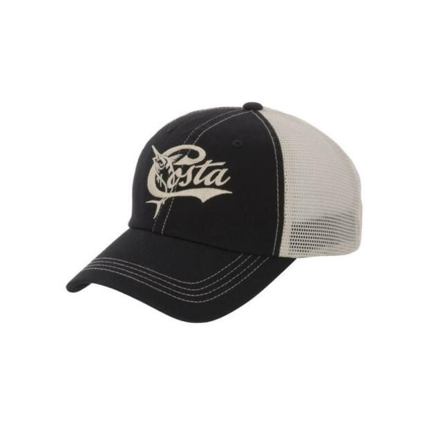 61865c63e54 Costa Del Mar Mesh Retro Adjustable Cap Hat Black Stone for sale ...