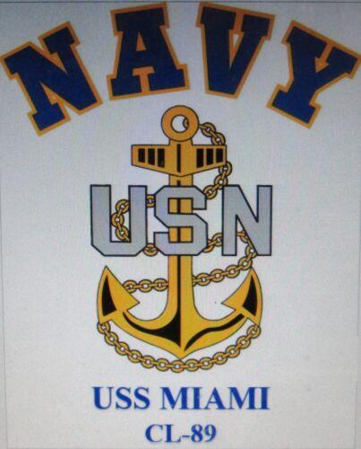 USS MAKIN ISLAND  CVE-93* AIRCRAFT CARRIER* U.S NAVY W// ANCHOR* SHIRT