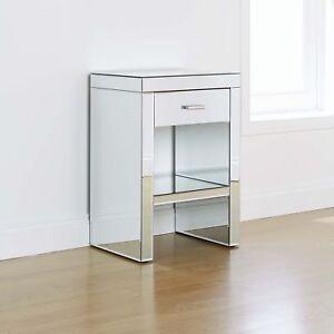 Venetian Mirrored Glass Bedroom Furniture Drawer Bedside Cabinet - Venetian glass bedroom furniture