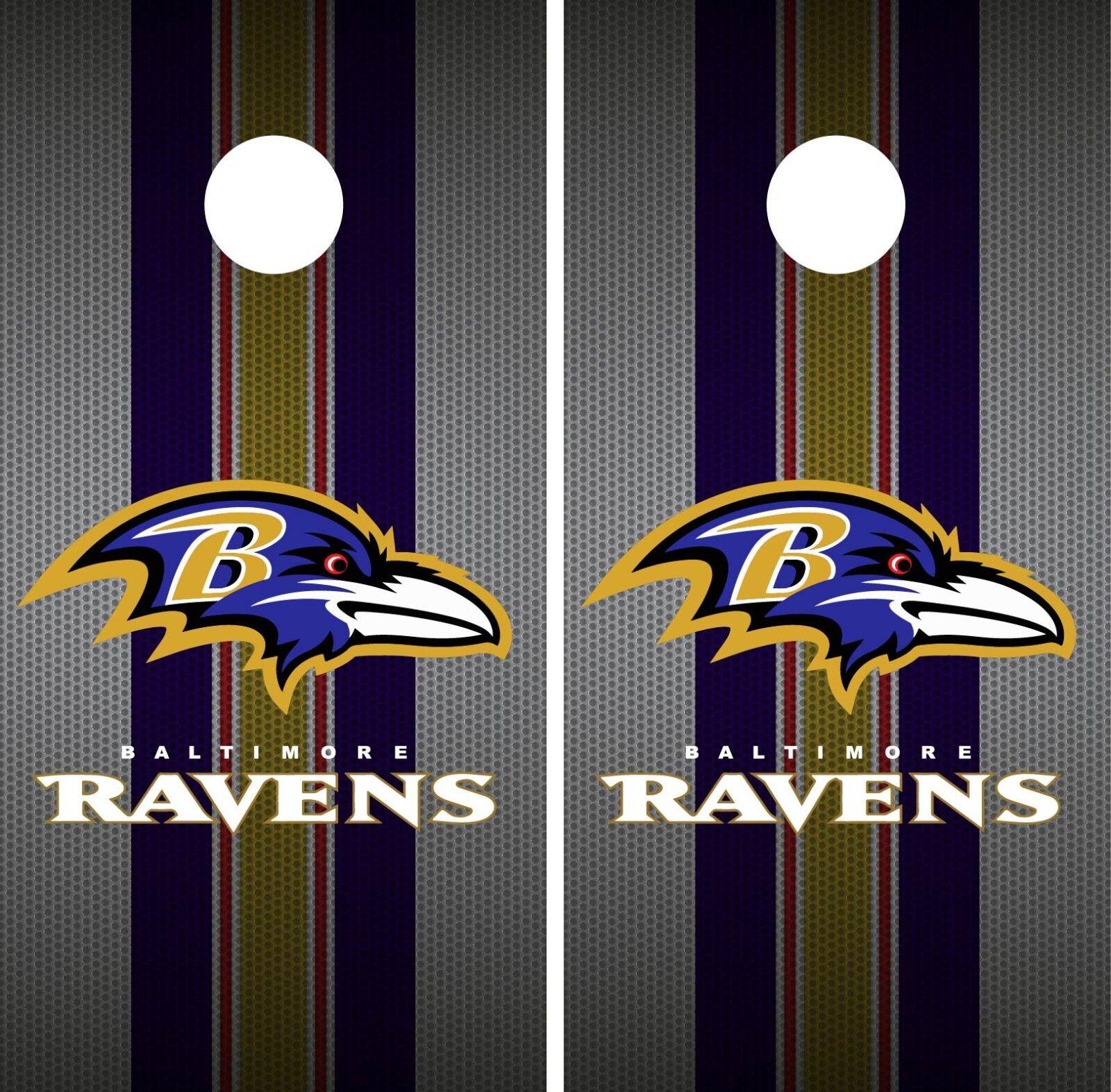 Baltimore Ravens Cornhole Wrap NFL Team Flag Skin Game Set Vinyl Decal CO30