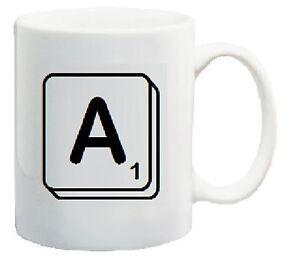 Personalised Scrabble Mug Letter A Scrabble Mugs Scrabble Letter
