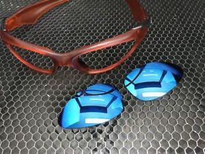 33083b93bb LINEGEAR Custom Replacement Lens for Oakley Scar Blue Iridium  SC-LB ...