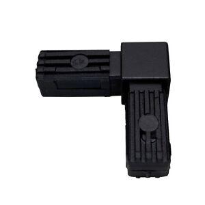 Steckverbinder-034-Rechter-Winkel-034-stahlverstaerkt-20x20x1-5-schwarz-Polyamid