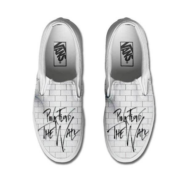 Vans Classic Slip on Pink Floyd The Wall Draw Permanent Painted Shoes