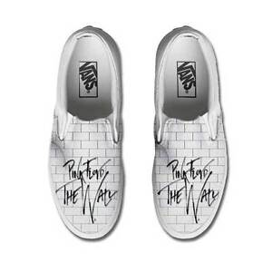 Vans Classic Slip on Pink Floyd The Wall Disegnate Indelebile Painted Scarpe