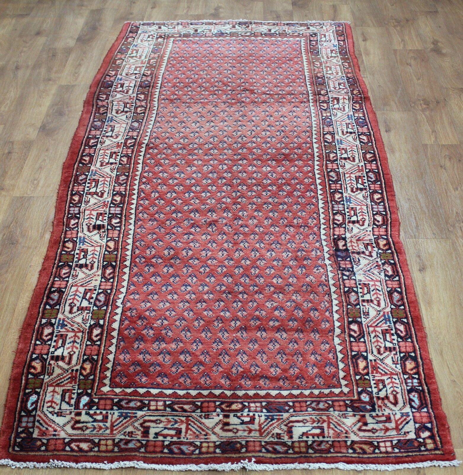 Traditional Traditional Traditional Vintage Wool Handmade Classic Oriental Area Rug Carpet 315cmX110cm 960c42
