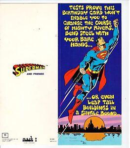 Please read Vintage 1978 Superman /& Friends Greeting Cards Mark 1 /& Envelope