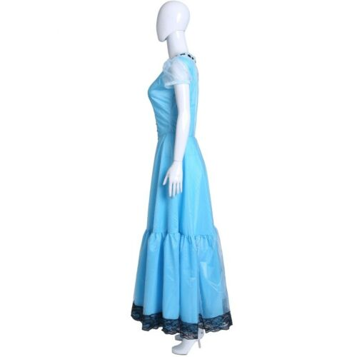 Alice au pays des merveilles Tim burton Cosplay Palais Robe Bleu