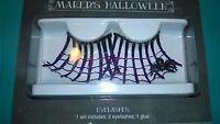 Purple Glitter Spider Web False Eyelashes With Spider Adhesive Included