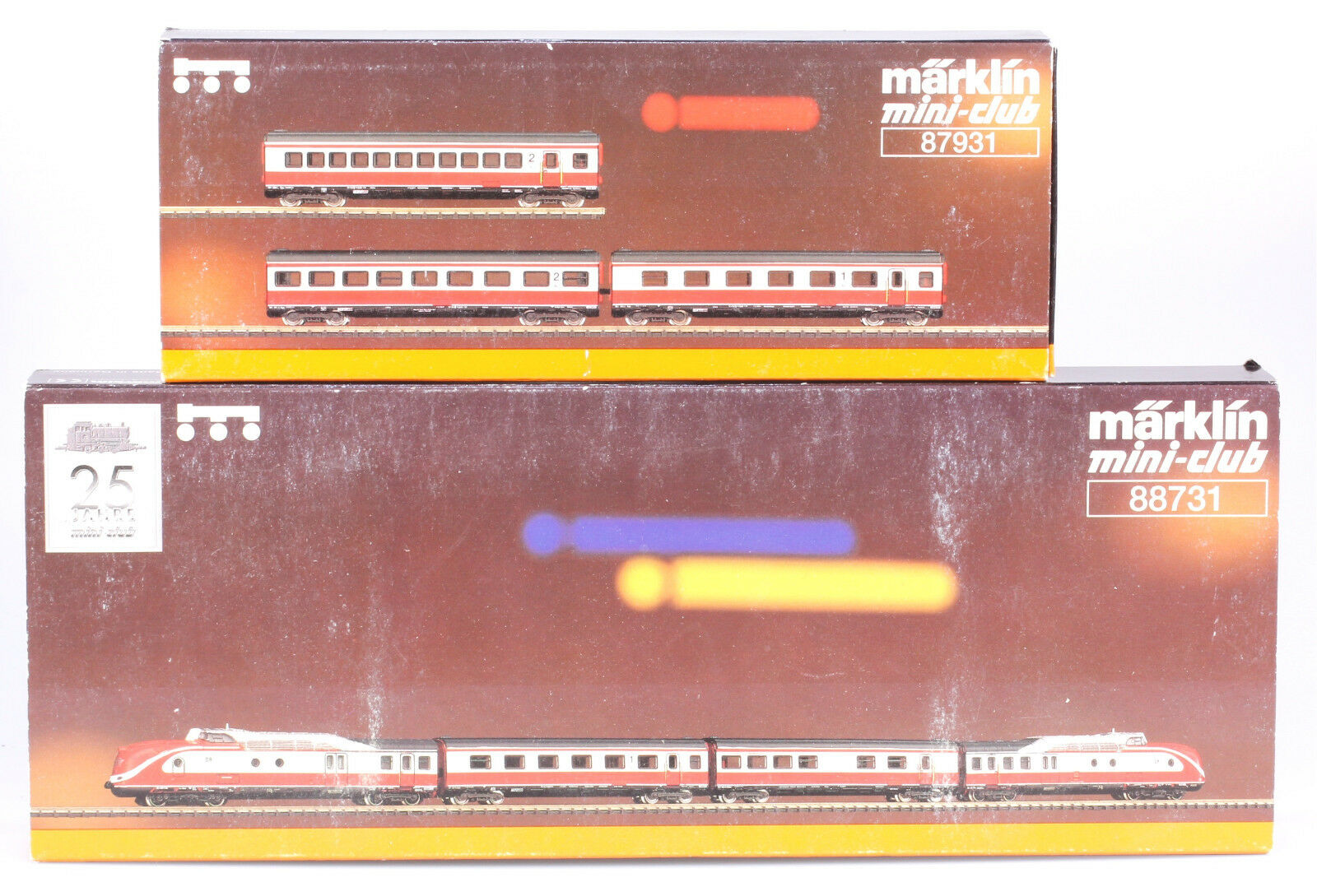 Märklin Z  88731 &  87931 DR VT11.5 Tee Train Set, 1997 Only, Both New in Box