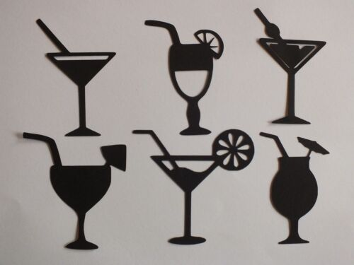 25 VIN CHAMPAGNE VERRE /& bouteilles Toppers Confetti Table Décoration Mariage