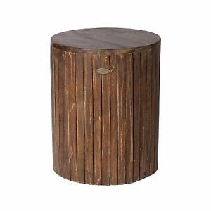 Details About Modern Rustic Wood Outdoor Patio Garden Stool End Side Table Accent Plant Stand