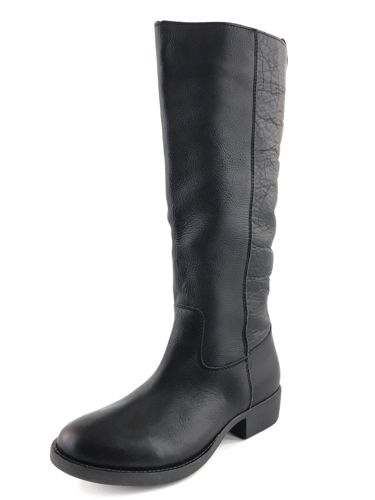 Zigi Soho Women's 'Layla' Black Leather Knee High Riding Boots Womens Size 5 M*