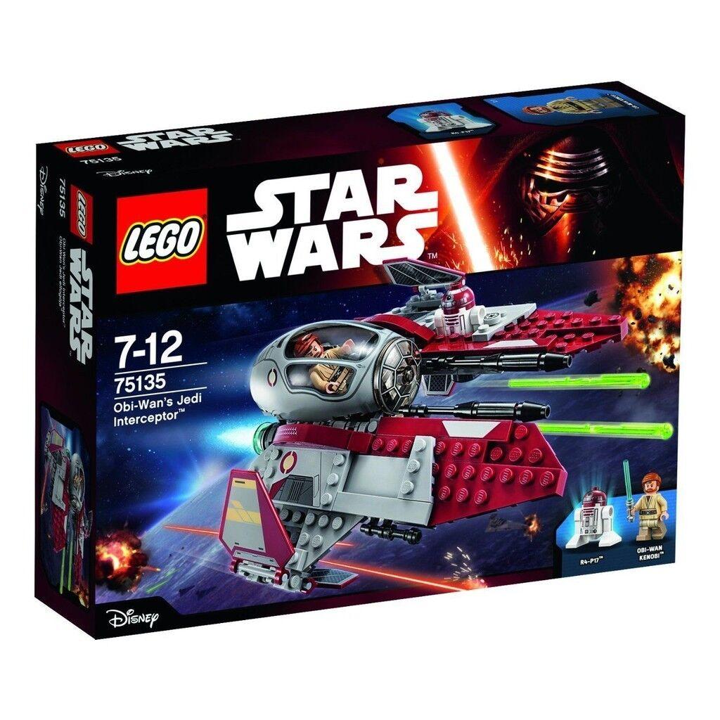 LEGO STAR WARS OBI-WAN'S JEDI INTERCEPTOR INTERCEPTOR INTERCEPTOR - LEGO 75135 36a2ad