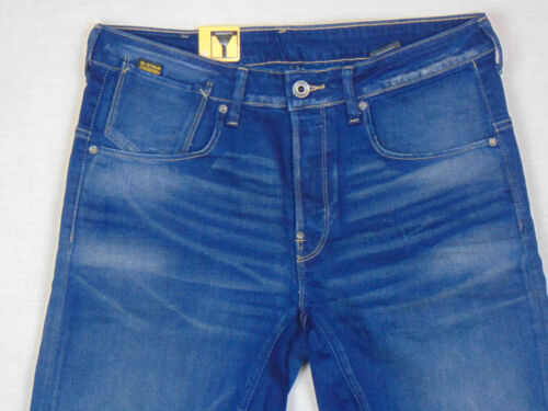 G-Star Raw A Crotch Tapered W32 L34 RRP £107 Mens Blue Firro Denim Jeans