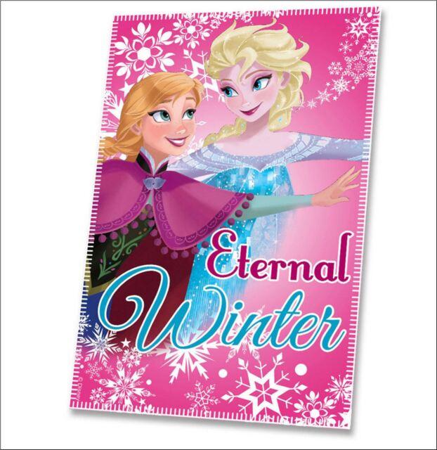 Disney Frozen 'Eternal Winter' Fleece Blanket - Soft comfort to snuggle up in