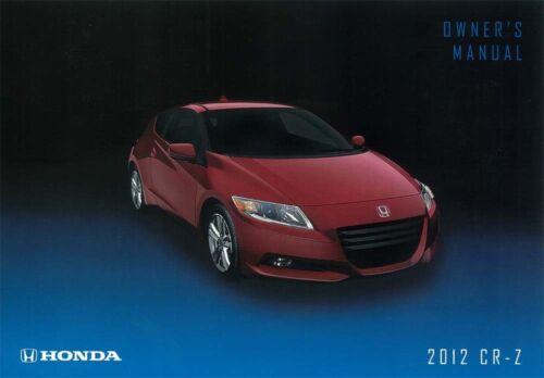 2012 Honda CR-Z Owners Manual User Guide Operator Book Fuses Fluids OEM
