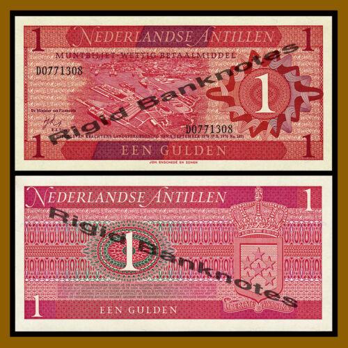 1970 P-20 Unc Netherlands Antilles 1 Gulden
