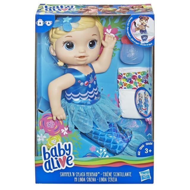 Baby Alive Shimmer 'n Splash Mermaid Blonde Hair Toy Doll