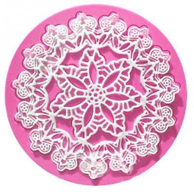 Hot Silicone Snowflake Shape Lace Icing Decor DIY Mold Fondant Cake Baking Tools