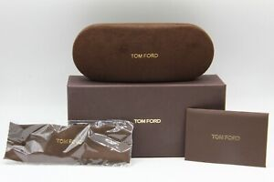 NEW-TOM-FORD-SUNGLASSES-EYEGLASSES-OPTICAL-HARD-SMALL-BROWN-CASE-CASE