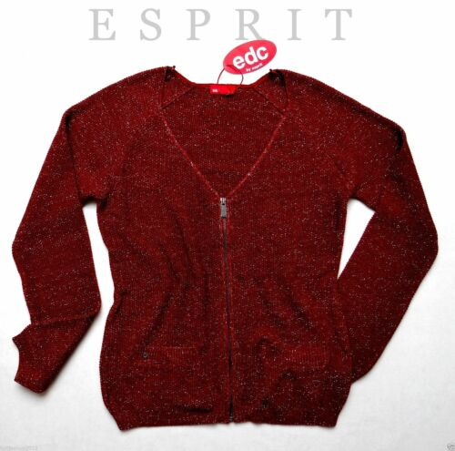 Veste Nouveau Esprit Brown Red En Xs Tricot By Gr Cardigan Edc 34 Pour Femmes Surdimensionné x6tqn