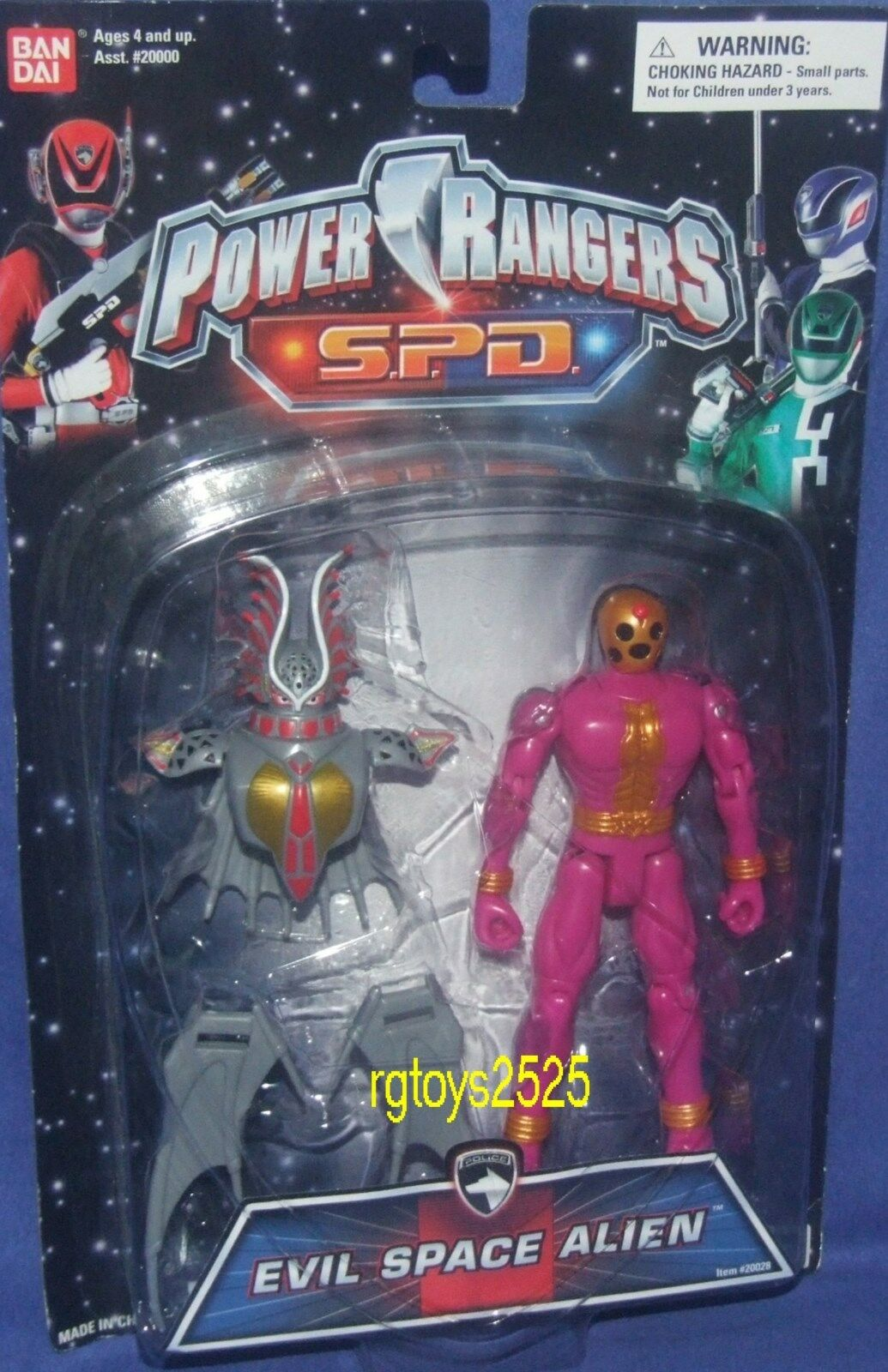 Power Rangers SPD Evil space Alien 5  Nuovo Factory Sealed 2004