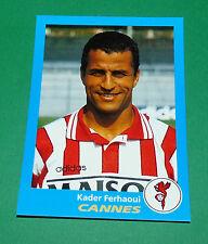 N°78 KADER FERHAOUI AS CANNES ASC LA BOCCA PANINI FOOT 96  FOOTBALL 1995-1996