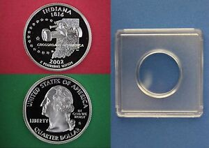 Clad 2012 S Denali Proof Quarter With 2x2 Snap Deep Cameo Combined Shipping