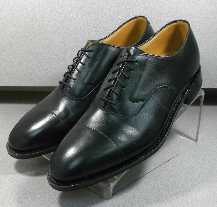 2408635 MS50 Chaussures Hommes Taille 9.5 M cuir noir chaussures Oxford Johnston & Murphy