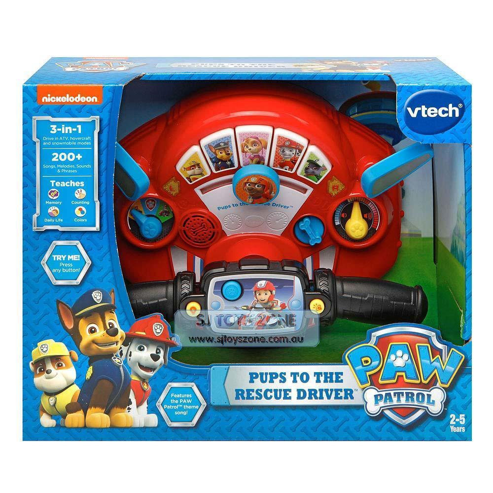 Vtech Pups to the Rescue Driver Paw Patrol Kids Toy 3 Modes 200+ Sounds & Phrase