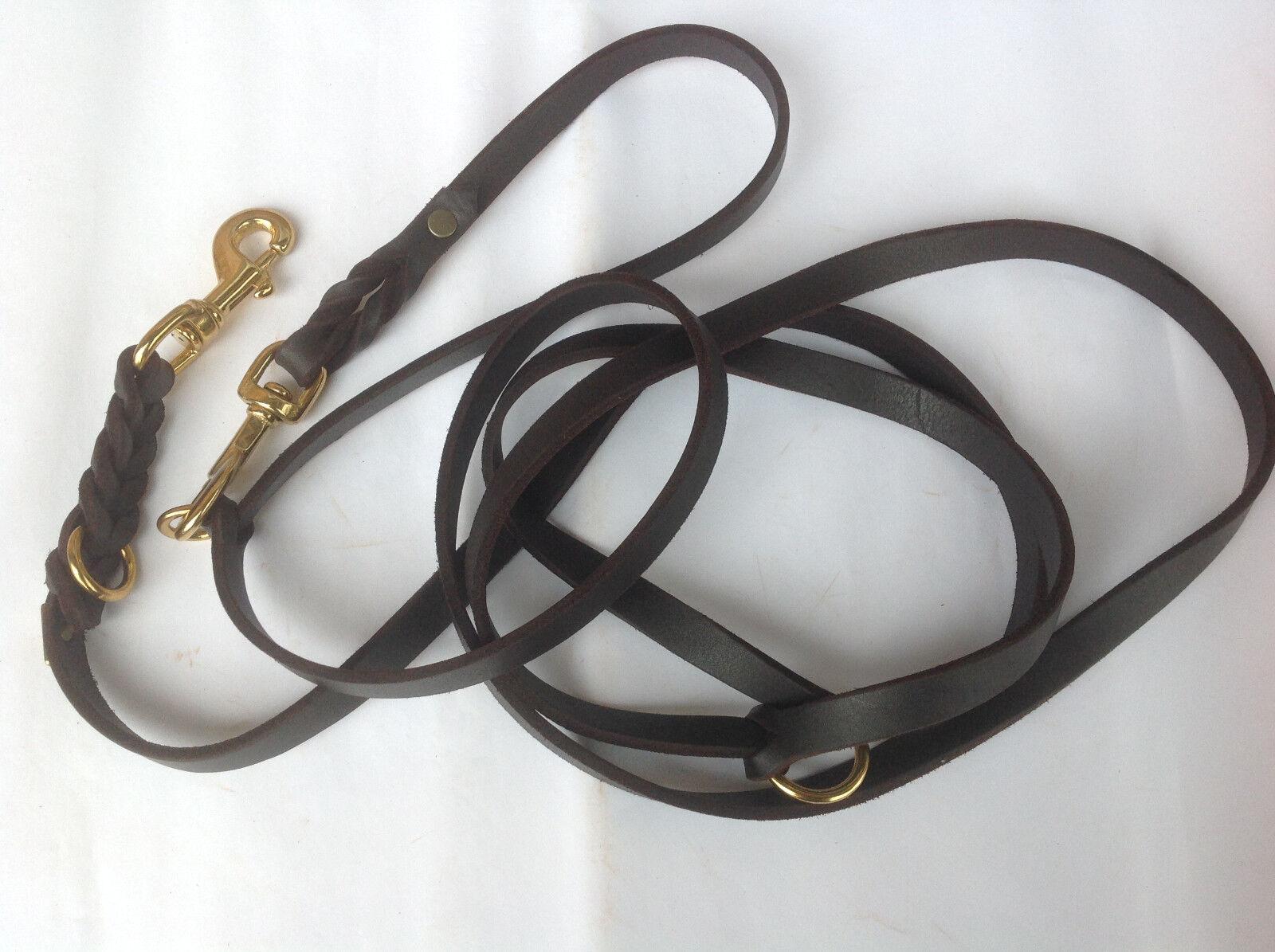 Lederleine Fettlederleine Breite 8-10-12-15mm Länge 3 m dreifach verstellbar verstellbar verstellbar  | Nutzen Sie Materialien voll aus  4df0ab