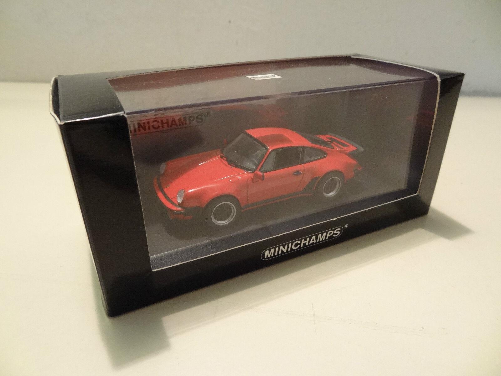 PORSCHE 911 TURBO TIPO 930 - 1977-Indian rosso-Minichamps 1 43
