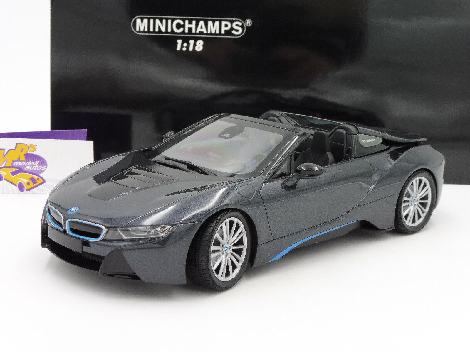 MINICHAMPS 155027030   BMW i8 Roadster Année de construction 2018 IN  sophistogrismetallic  1 18