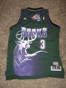 06911fe0221 Image is loading Authentic-Swingman-Milwaukee-Big-Bucks-jersey-Brandon- Jennings-