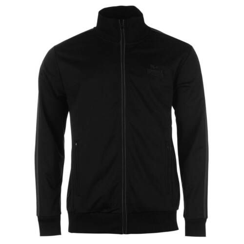 Lonsdale Track Jacket Mens Gents Tracksuit Top Coat Mock Neck Zip Zipped Warm