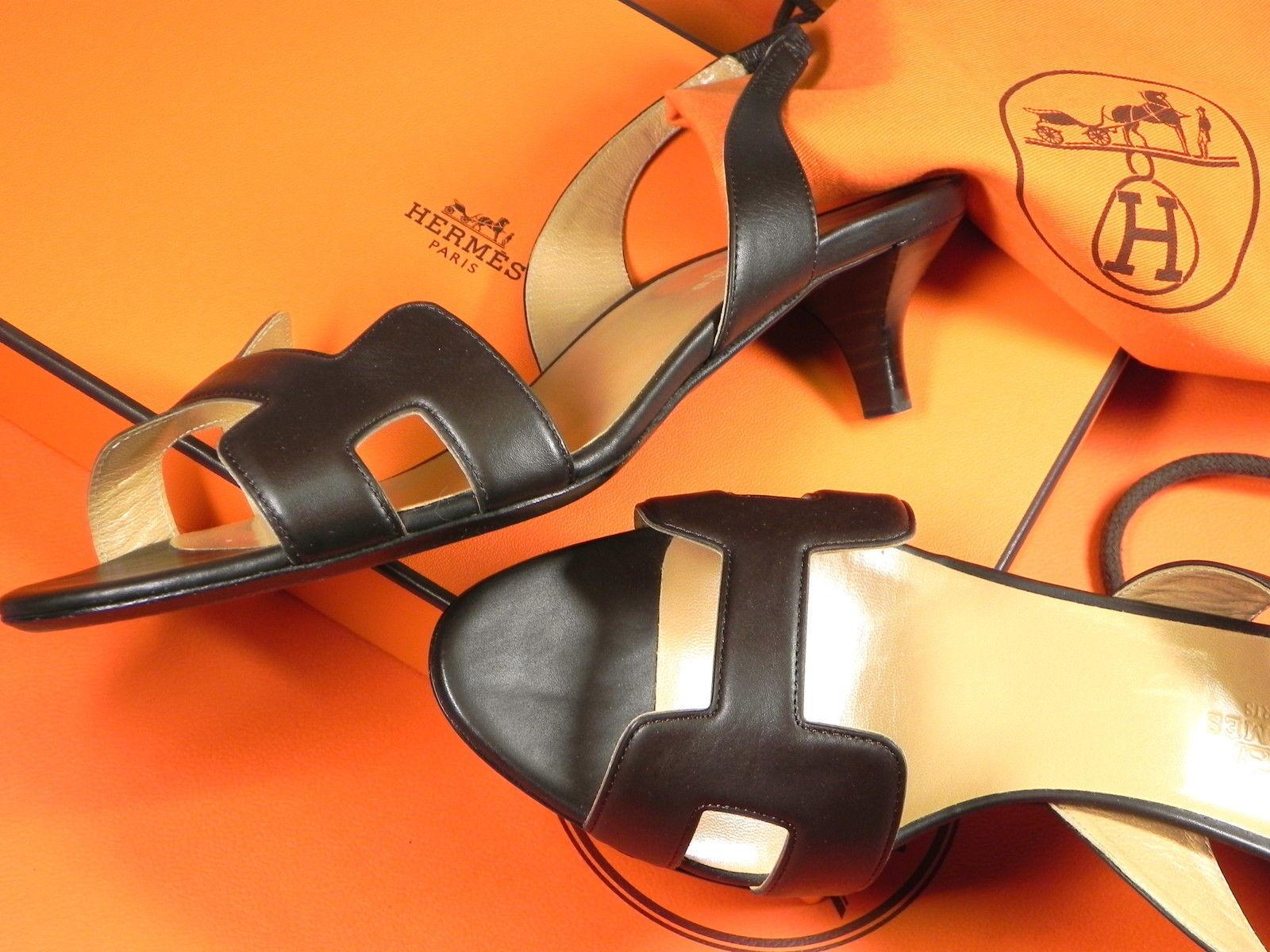 ORIGINAL Sandales avec paragraphe du luxe Label's Hermès Paris Paris Paris taille 38 d933eb