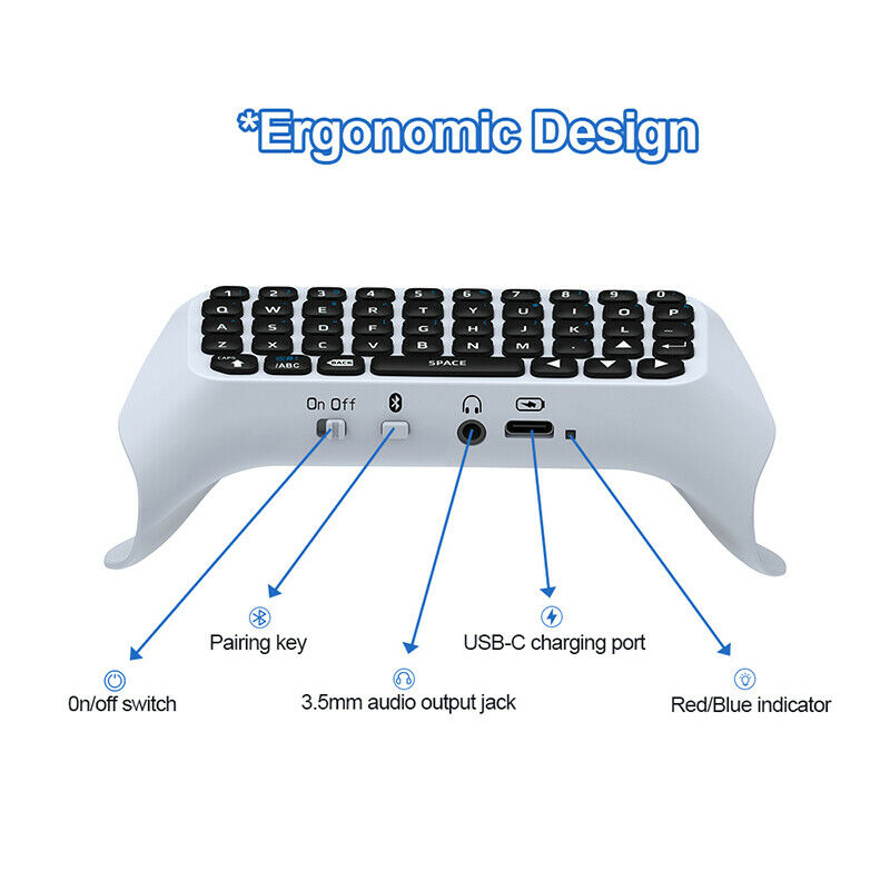 3.5mm Bluetooth Wireless Keyboard Chatpad Controller Gamepad for PS5 Controller