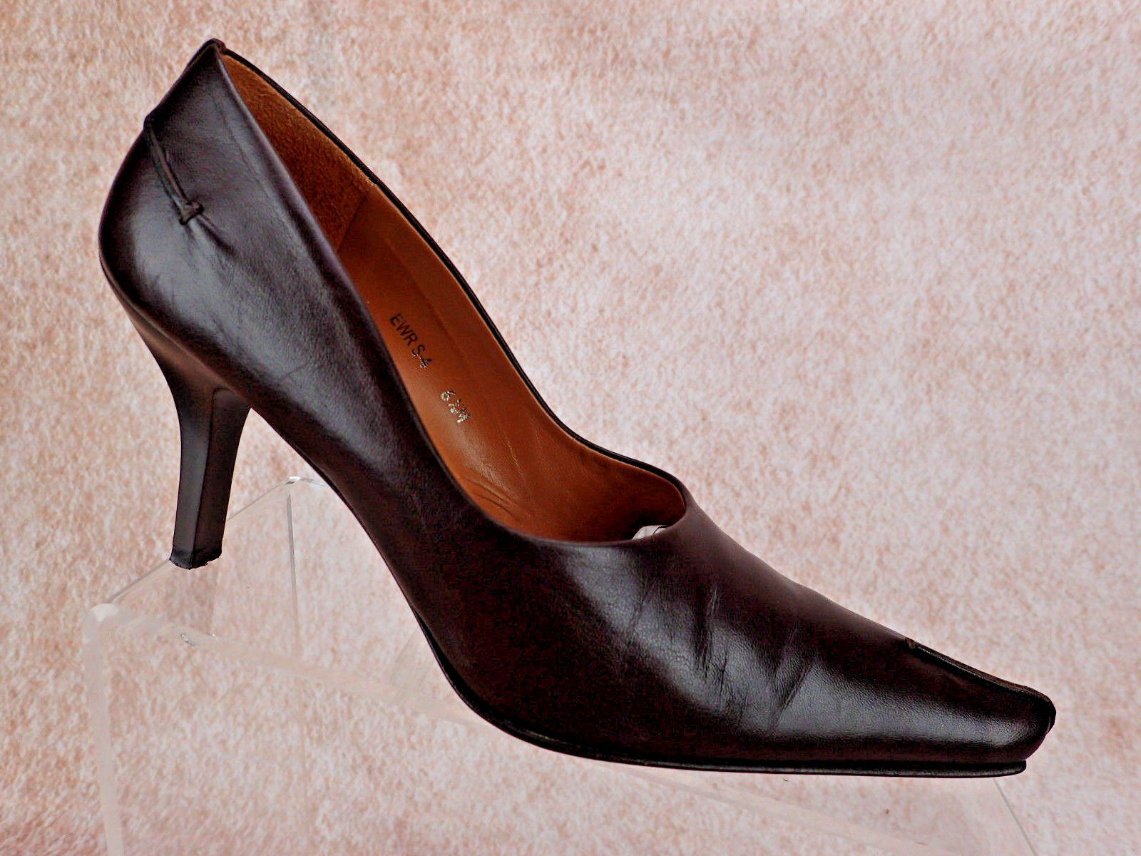 Donald J Pliner Heels Women's Size 6.5 M Brown Leather Pumps Pointed Toe