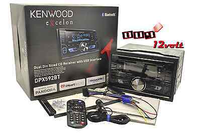 Kenwood eXcelon DPX592BT Double-DIN Bluetooth 13-digit LCD display and variable
