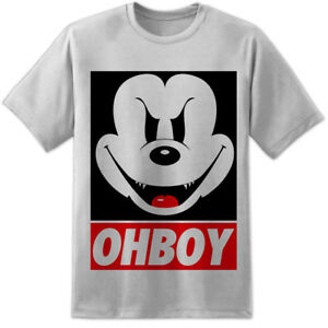 a3b65fb834c Mickey Mouse OHBOY   OBEY Style T Shirt Evil Disney Minnie They Live ...