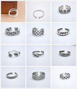 S925-Sterling-Silver-PL-Adjustable-Stacking-Midi-Knuckle-Top-Finger-Open-Ring-UK