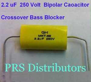 Capacitor 25 uF 100V BIPOLAR CAPACITOR BASS BLOCKER SPEAKER TWEETER CROSSOVER