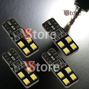 4-LED-T10-Lampade-8-SMD-2835-Canbus-Bianco-No-Errore-Luci-Posizione-Xenon-Targa
