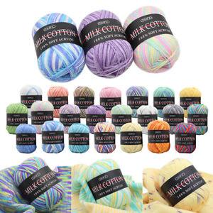 Mixed-Lot-23-color-50g-DK-knitting-Crochet-Milk-soft-Baby-cotton-wool-Yarn-hot