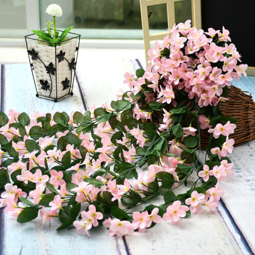 Artifical Fake Flowers Ivy Vine Hanging Garland Plant Wedding Home Decoration 0O