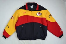 Vintage Heavy Wool PUMA NFL Chiefs On Field Players Heavy Winter Coat Jacket XL